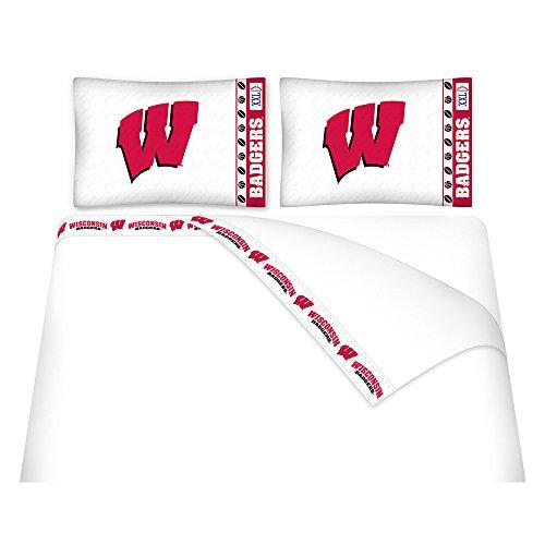 NCAA Wisconsin Badgers Micro Fiber Sheet Set (Twin)