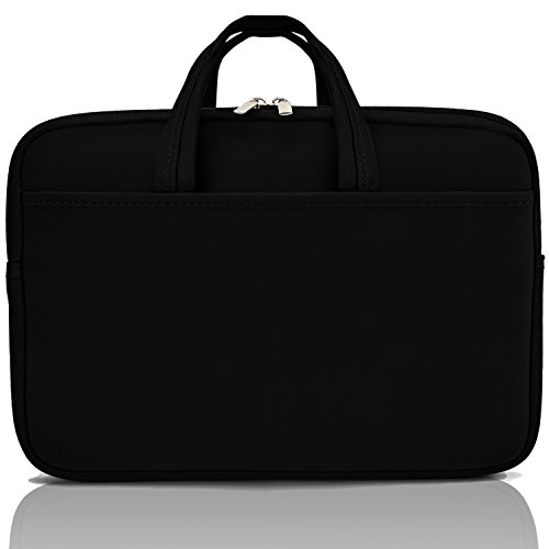 13'' Laptop Sleeve Waterproof Laptop Bag, Protective Drop-proof Case for Macbooks, Notebooks, or Ultrabooks, Slim with Carrying Handles & Extra Storage Pockets. by SecondSkin