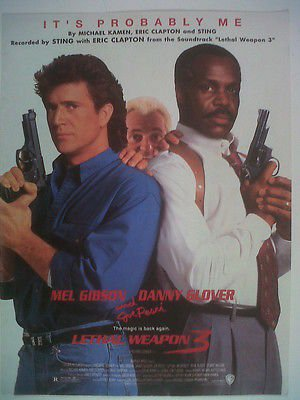 song sheet IT's PROBABLY ME Lethal Weapon 3