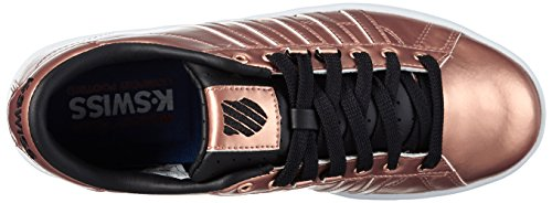 Swiss K Top Sneakers Damen Hoke Schwarz Low Metallic Pink Weiß rrxOHnf