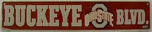STR20053 Ohio State University Buckeyes Blvd Embossed Vanity Metal Novelty Street Sign