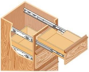 Rails dextension coulissants pour tiroir en acier extension compl/ète