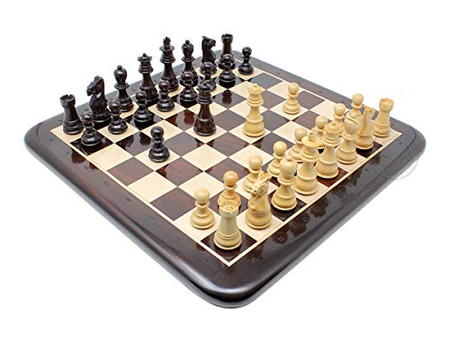 House of Chess - Ringy Rosewood Galaxy Staunton Wooden Chess Set Pieces King Size 3
