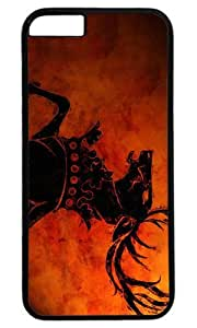 Abstract Horse DIY Hard Shell Black Best Designed iphone 6 Case