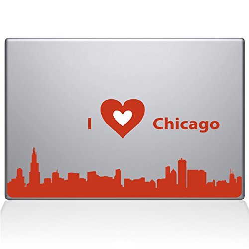 【サイズ交換OK】 The Decal Guru MacBook Guru I love Chicago Decal (2328-MAC-13A-P) Vinyl Sticker 13 MacBook Air Orange (2328-MAC-13A-P) [並行輸入品] B0788K3BDF, ニュウゼンマチ:fc818da8 --- a0267596.xsph.ru