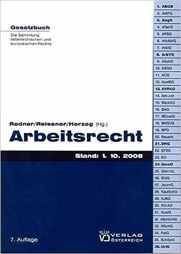 Arbeitsrecht Gesetzbuch Amazonde Thomas Radner Gert P Reissner