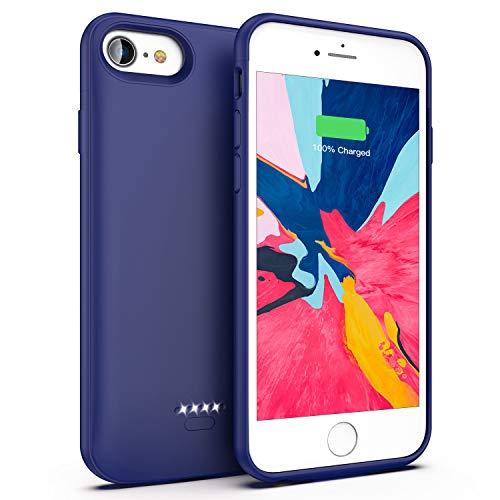 Battery Case for iPhone 7/8, 4000mAh Portable Protective Charging Case Compatible with iPhone 7/8 (4.7 inch) Rechargeable Extended Battery Charger Case (Ocean Blue)