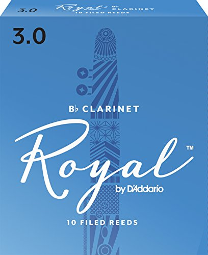 Royal Bb Clarinet Reeds, Strength 3.0, 10-pack