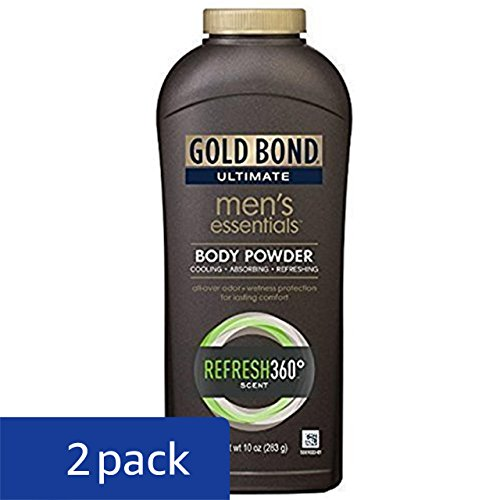 Review Gold Bond Ultimate Men's Essentials Body Powder, 10 oz., Pack of 2