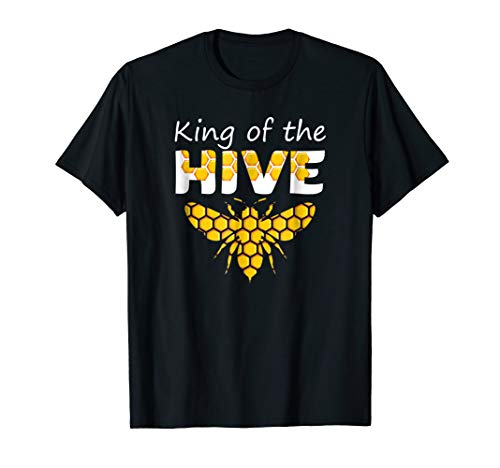 Beekeeping King of The Hive Tshirt Beekeeper Bee Funny Gifts ()