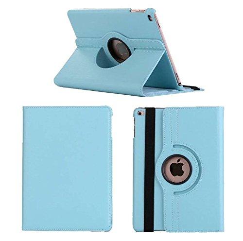 360 Degree Rotating Smart Stand Holder Leather Cover iPAD Case, for Apple iPad Mini 1/2 / 3/4 (iPad Mini 1/2/3, Blue)
