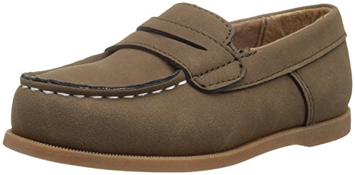 Image of Carter's Boys' Simon4 Slip-On Boat Shoe Loafer, Brown, 7 M US Toddler