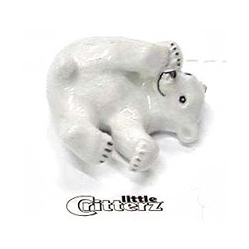 Bear Cub Miniature - Little Critterz Nanuk Polar Bear Cub LC402 Miniature Hand Painted Porcelain