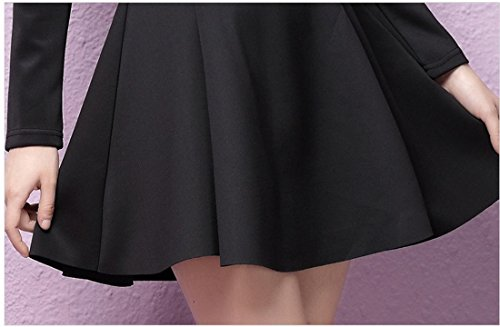 Purpura Erizo Robe Uni Femme Ouverture Zip Invisible Trapèze Cintré