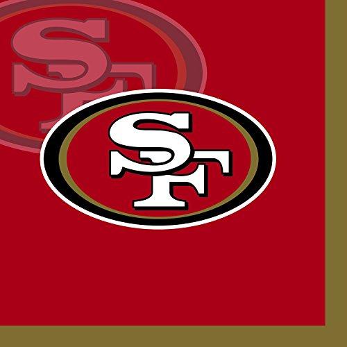 Creative Converting 16 Count San Francisco 49ers Beverage Napkins