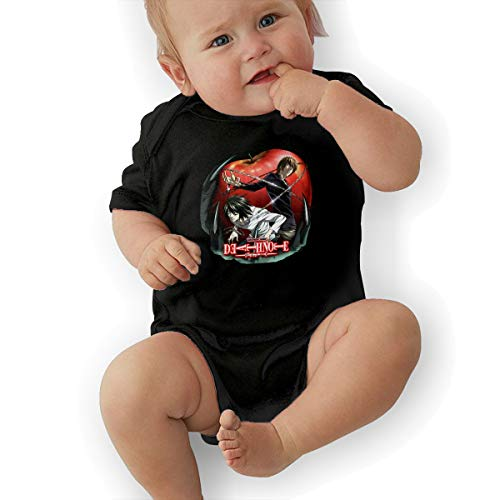 MichaelJMichaels Baby Boys Girls One-Piece Unisex Chit Baby Romper Death Note Black