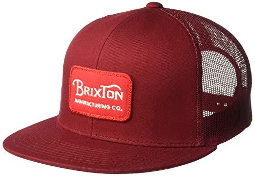 Brixton Men's Grade HIGH Profile MESH HAT, Cardinal, ()