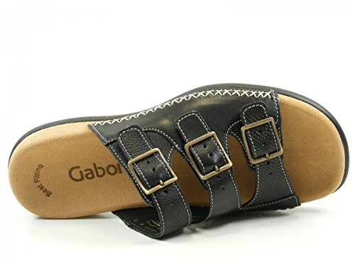 Gabor 43-709 Zuecos de material sintético mujer Schwarz