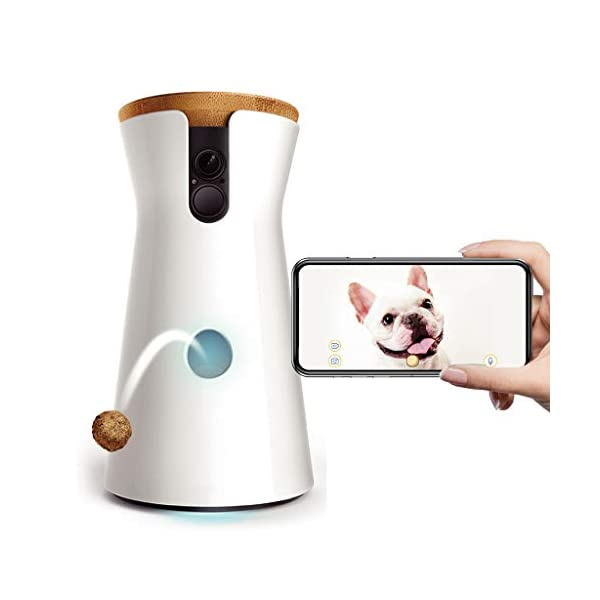 Dog Camera: Treat Tossing, Full HD WiFi Pet Camera with 2-Way-Audio, Treat Tossing and Barking Alert, Designed for Dogs
