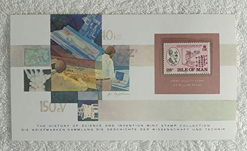Sir William Bragg - Postage Stamp (Isle of Man, 1983) & Art Panel - The History of Science & Invention - Franklin Mint (Limited Edition, 1986) - Physicist, Physics, X-Ray Crystallography, Crystal Diffraction