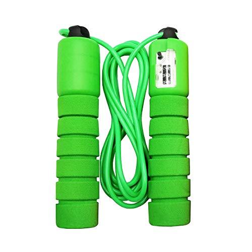 Joyo Park Jump Ropes Kids Bulk 2 Pack with Counter for Girls Boys Women Adjustable Skipping Rope Green Orange Color (Orange Green)