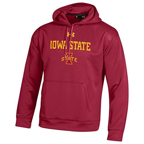 (Under Armour Adult NCAA Men's Fleece Hood, Crimson, Medium )