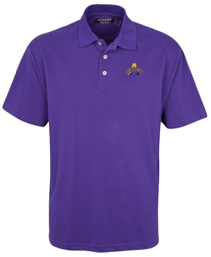 University Classic Pique Polo Shirt - Oxford NCAA University of Albany Men's Classic Pique Polo, 3X-Large, Grape