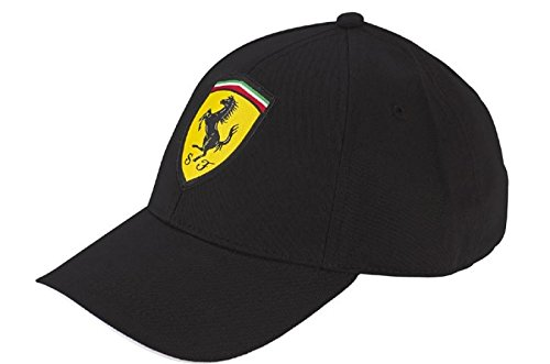 Amazon.com  Ferrari Black One Size Classic Cap  Automotive 78674e8ad43