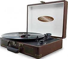 Soundmaster VCS3 Nostalgia Tocadiscos Set, 3 LPs, Maleta: Amazon ...
