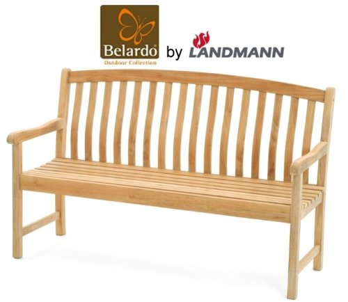 belardo by landmann teak gartenbank 150cm 3 sitzer holzbank sitzbank holz bank g nstig online kaufen. Black Bedroom Furniture Sets. Home Design Ideas