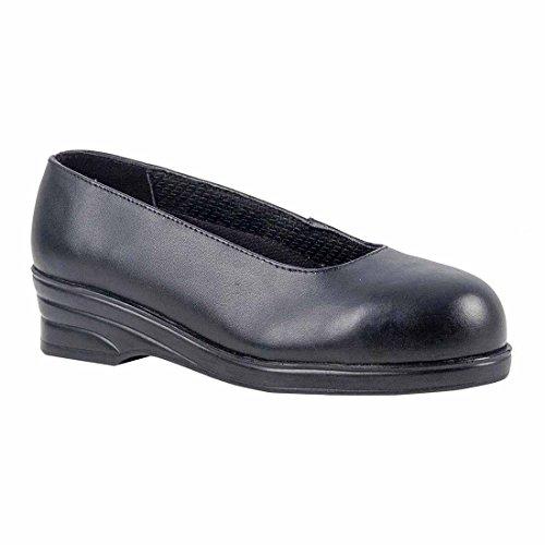 SUW–Steelite Damen Court Workwear Sicherheit Schuh S1, EU 37 - UK 4, schwarz, 1 schwarz