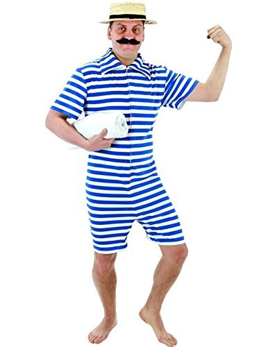 Vintage Men's Swimsuits – 1930s to 1970s History Beach Hunk Adult Costume £18.99 AT vintagedancer.com