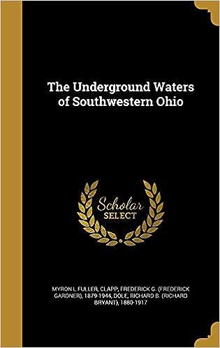 The Underground Waters of Southwestern Ohio