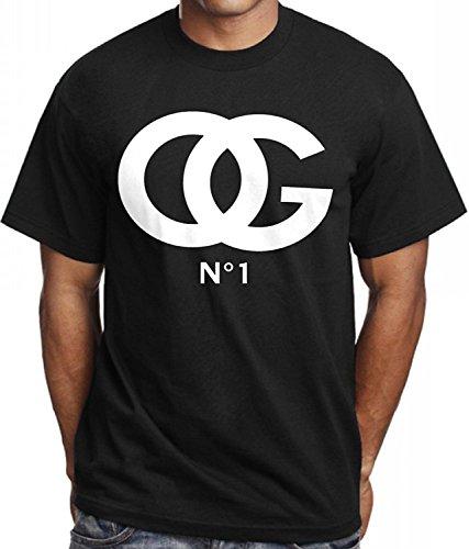 Men's OG Original Gangster # 1 T Shirt Urban Wear Hip Hop Gear Trill Rap Dealer (5X - 5XL - XXXXXL) ()
