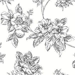 Wallpaper Patton Wallcovering Black and White 2 BW28706