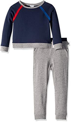 Splendid Boys' Little Slub Terry Raglan Sleeve Set, True Navy - Sweatshirt Terry Splendid
