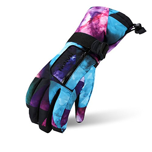 Arcweg Kids Ski Gloves Women Men Waterproof Cotton Fleece Lined Zipper Pocket Palm Grip Thermal Lightweight for Skiing Motorcycle Hiking Children & Adults 13 Colors Optional – DiZiSports Store