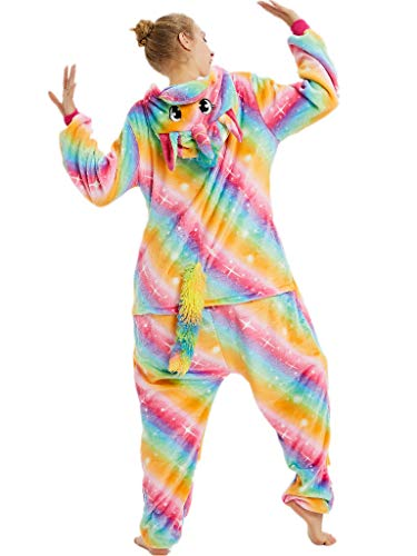 Onesies For Teenage Girls (iSZEYU Adult Onesie Pajamas for Women Girls Unicorn Onsie Pijama Costumes M)
