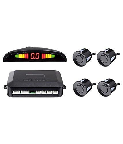 tempo di saldi Kit 4 Sensori Di Parcheggio Per Auto Con Display Suono Led Acustico Verniciabili