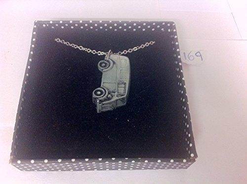 Type de Morris J Van (Post Office avec fenêtres latérales) 3D Pendentif sur collier plaqué argent platine fait main 45,7cm ref169