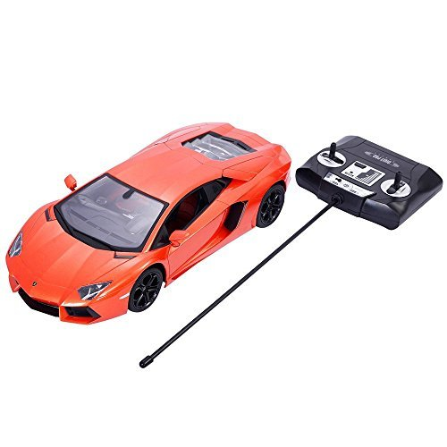 New Licensed Lamborghini Aventador LP700-4 1:14 Scale, Radio Remote Control RC Car, Rechargeable NiCd Batteries & Charger Included, RTR, Bright Headlights Rearlights, Detailed Interior - Rc Planes 4 1 Scale