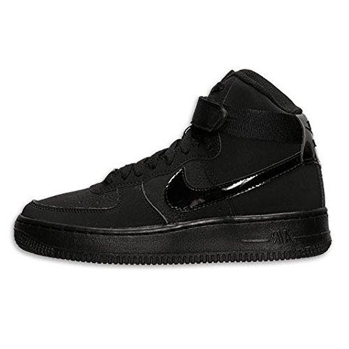 Nike Kids Air Force 1 High (GS) Black/Black/Black Basketball Shoe 6 Kids -