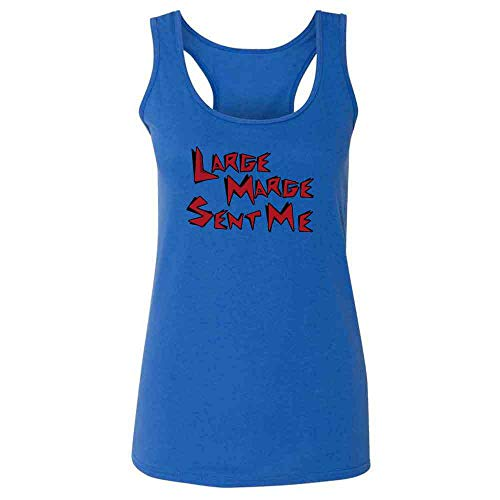 Pop Threads Large Marge Sent Me Funny Retro Heather Royal M Fashion Tank Top Tee for Women