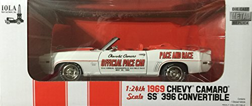 1969 Chevy Camaro SS 396 Convertible Race And Pace 1:24 Scale
