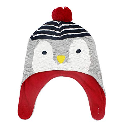 3c31ee21 RARITY-US Kids Winter Knit Hat Warm Cute Penguin and Fox Pom Pom Earmuffs  Cap for Girls Boys Toddler