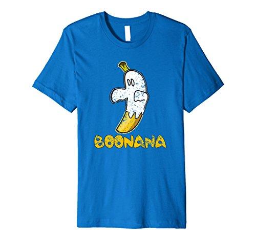 Mens Funny Cute Distressed Ghost Fruit Banana Boonana Tee Shirt Large Royal Blue (Boonana Halloween)