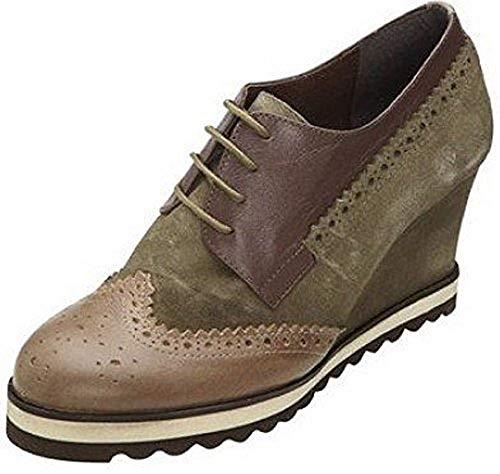 Best Chaussures À Lacets Kaki Schnürer Pour Femme De Connections Ville Vert RUROr