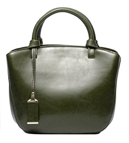 Green Leather Handbag - 9