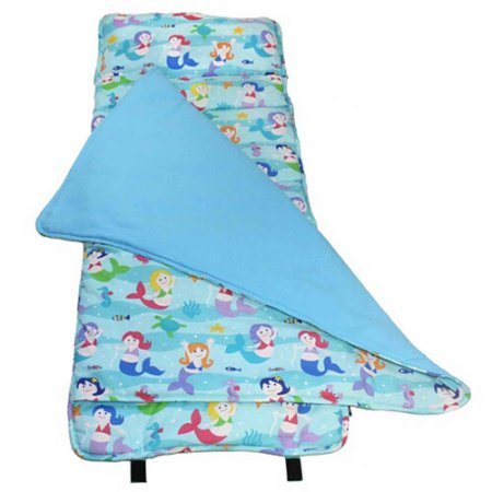 Wildkin Mermaids Rolls Up Nap Mat includes Matching Pillow for Toddler (Free How To Draw Little Ponies)