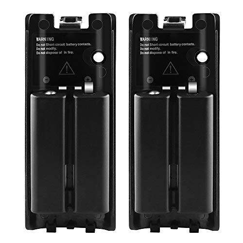 Wii Batteries Pack Rechargeable for Wii Controller, 2 Pack Rechargeable Batteries for Wii/Wii U Remote Controller -Black